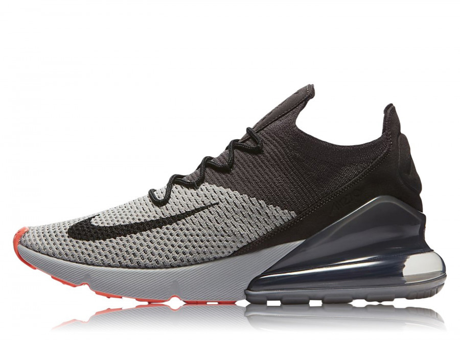 8a7539ce7746d Nike Men Air Max 270 Flyknit Footwear Gry Blk Gry