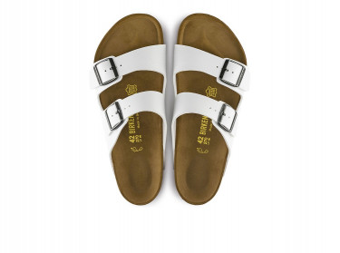 Mens Arizona Birko-Flor Sandals (White)