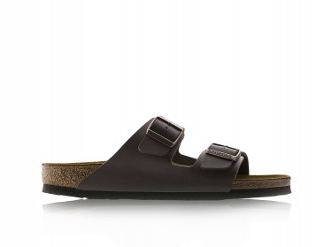Mens Arizona Birko-Flor Sandals (Dark Brown)