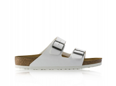 Womens Arizona Birko-Flor Sandals (White)